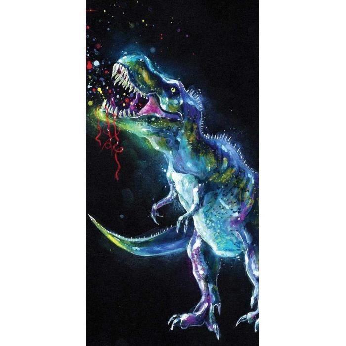 Dinosaure Serviette de Plage Colorée