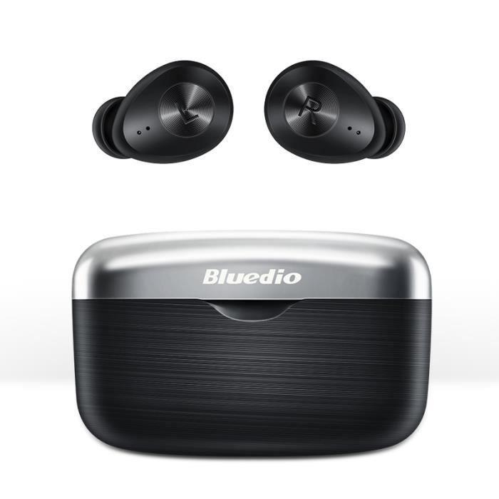 Écouteurs Bluetooth 5.0 sans fil sport Bluedio Fi TWS Headphones Écouteurs étanches Étui de Charge Autonomie