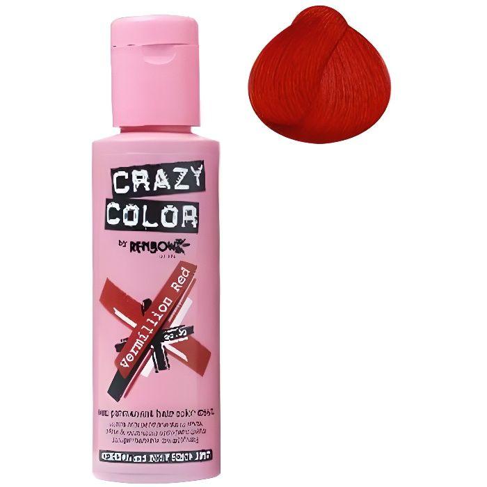 Coloration cheveux semi-permanente CRAZY COLORCouleur : Rouge VermillonPour un look FUN et des cheveux aux couleurs vives et