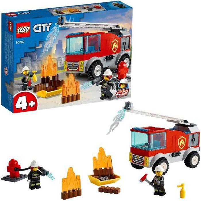 LEGO® City 60280 Le camion des pompiers avec échelle et mini figurines de pompier pour garçon ou fille de 4 ans et plus