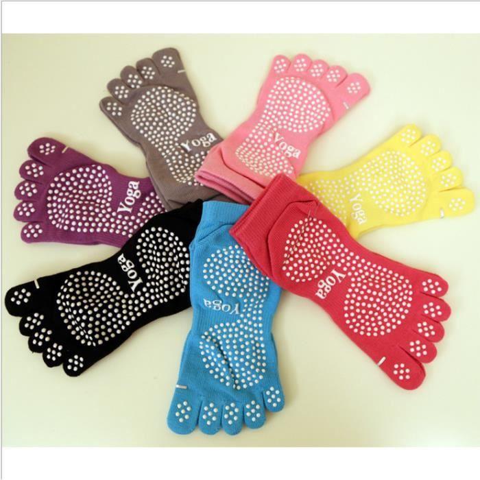3pcs nouvelles chaussettes de yoga chaussettes à cinq doigts