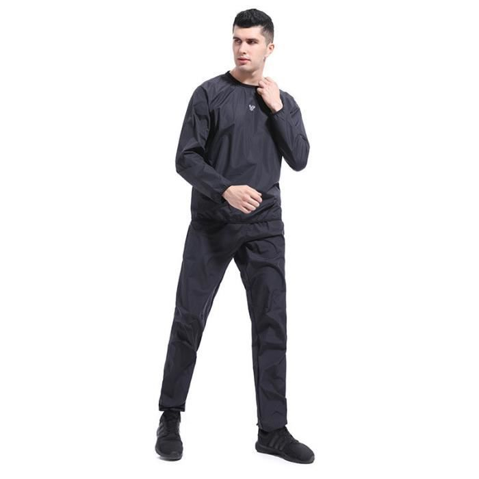 Ensemble de Sudation Homme T-shirt Pantalon Sport Running