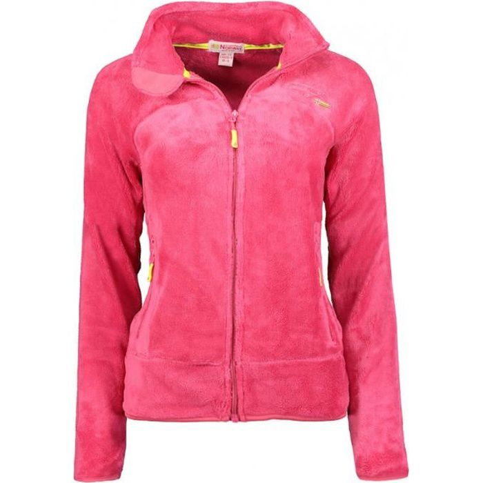 Veste Geographical Norway modele polaire upaline fille - Rose fluo