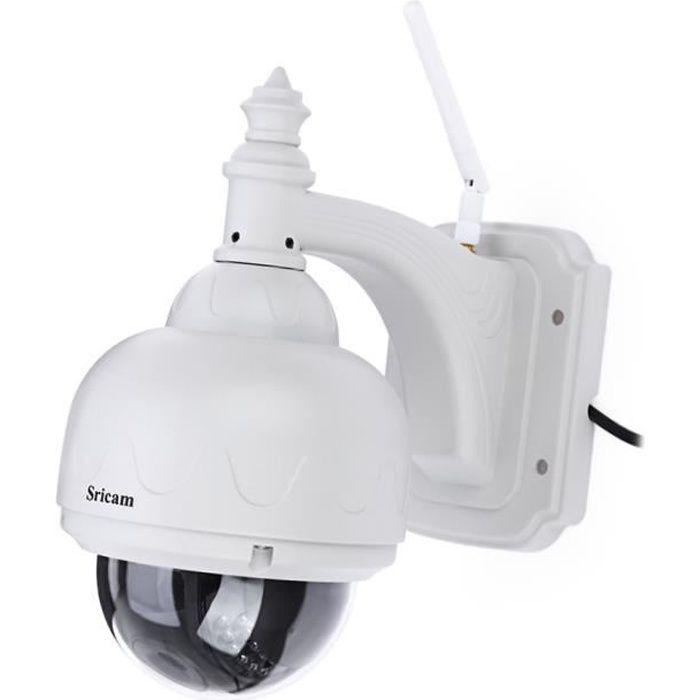 IP Caméra SRICAM SP015 720P H.264 WiFi ONVIF IR Vision Nocturne Détection de Mouvement