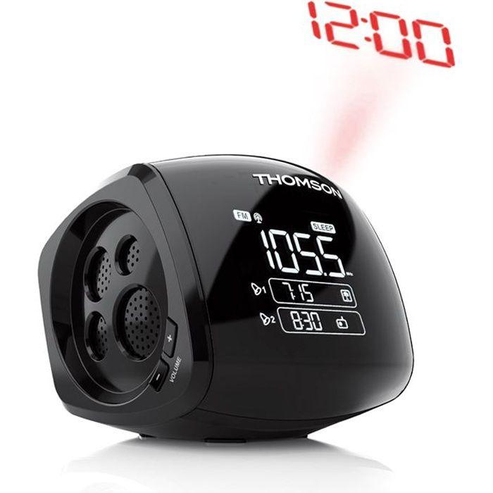 THOMSON CP280 Radio Réveil - Double alarme - Noir