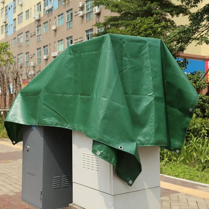 VGEBY Toile imperméable verte extérieure de tente de bâche imperméable de PVC de toile de 650g - m² pour le camion HB010 HB686 Bon M