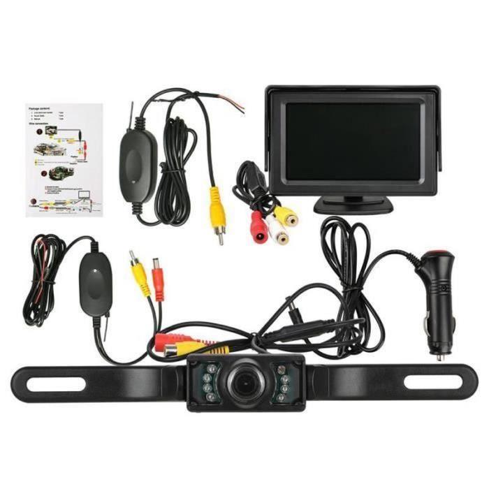 AWY28768-système de recul accessoires de voiture Kit de caméra de recul Caméra émetteur et récepteur sans fil