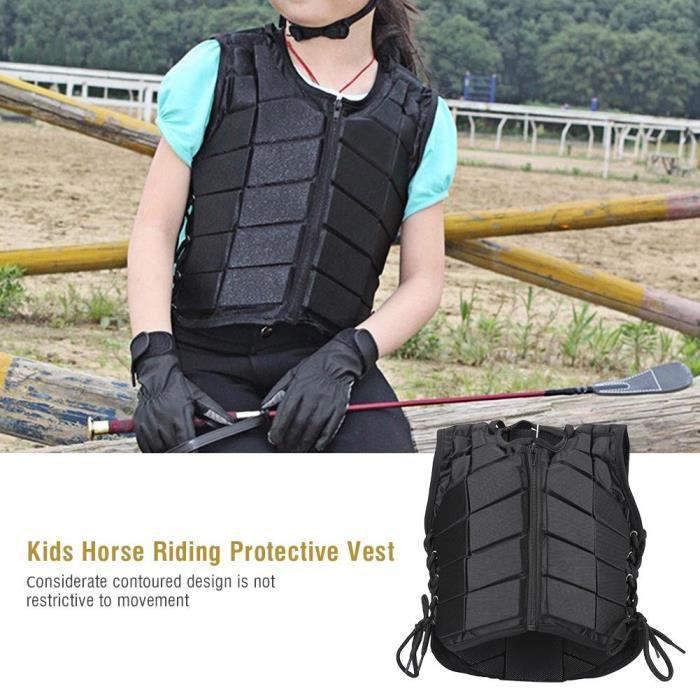 LIX Gilet de protection de sécurité de formation d'équitation confortable pour garçons filles enfants (CL)