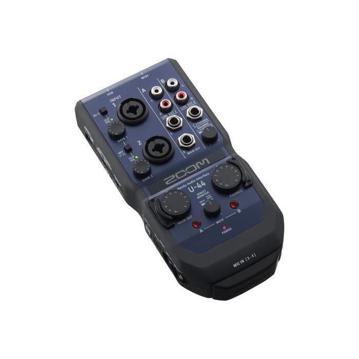 ZOOM U-44 Carte son USB - 4 in - 4 out + MIDI