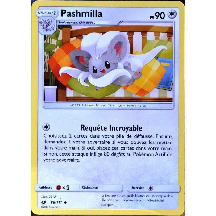 Pashmilla-sl4 86//111 French designer card pokemon carmine invasion