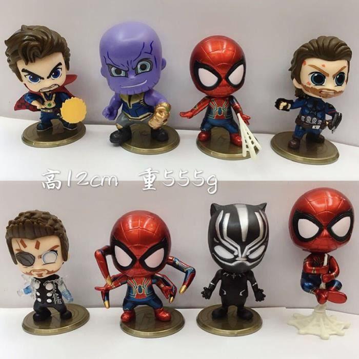 POUPÉE 8PCS Avengers 3 Rôle Poupée Version Q Spider-Man I