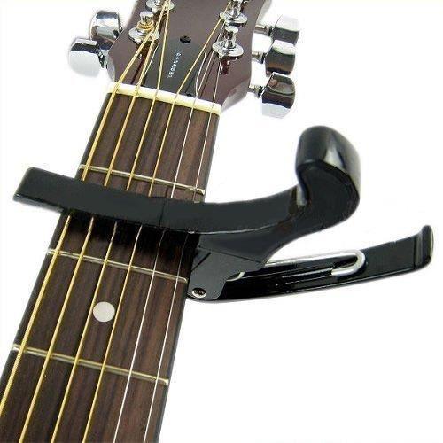 Capodastre de Guitare M/étallique Capo de Guitare Chrome Donner