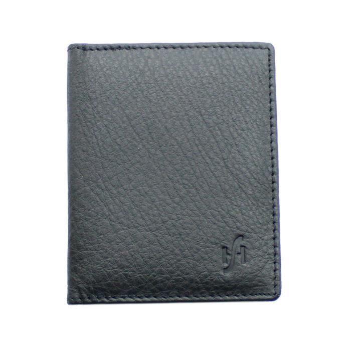 AG Portefeuilles Homme deux volets en cuir RFID Bloquant Carte ID Sécurité Portefeuille Noir