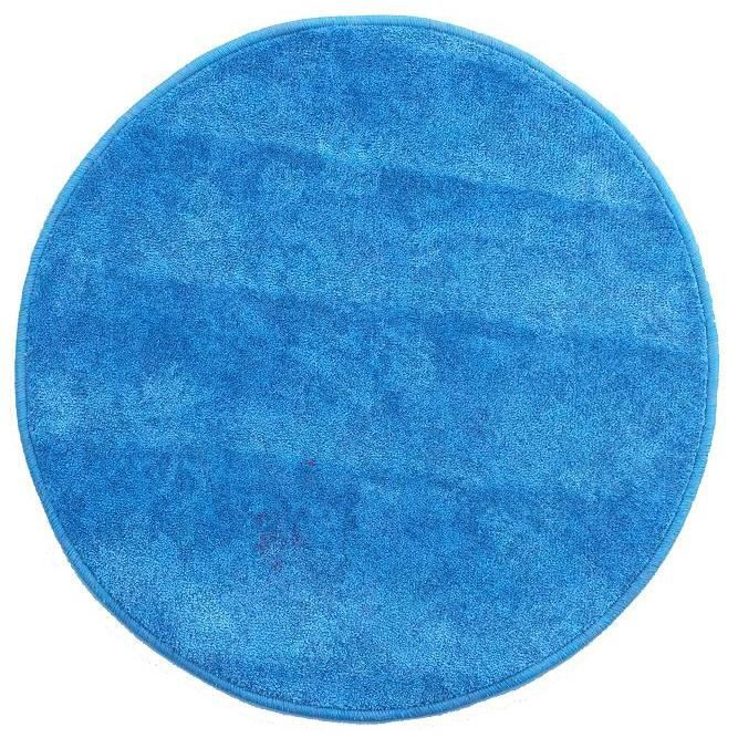 tapis moquette rond bleu diam 60cm achat vente tapis cdiscount. Black Bedroom Furniture Sets. Home Design Ideas