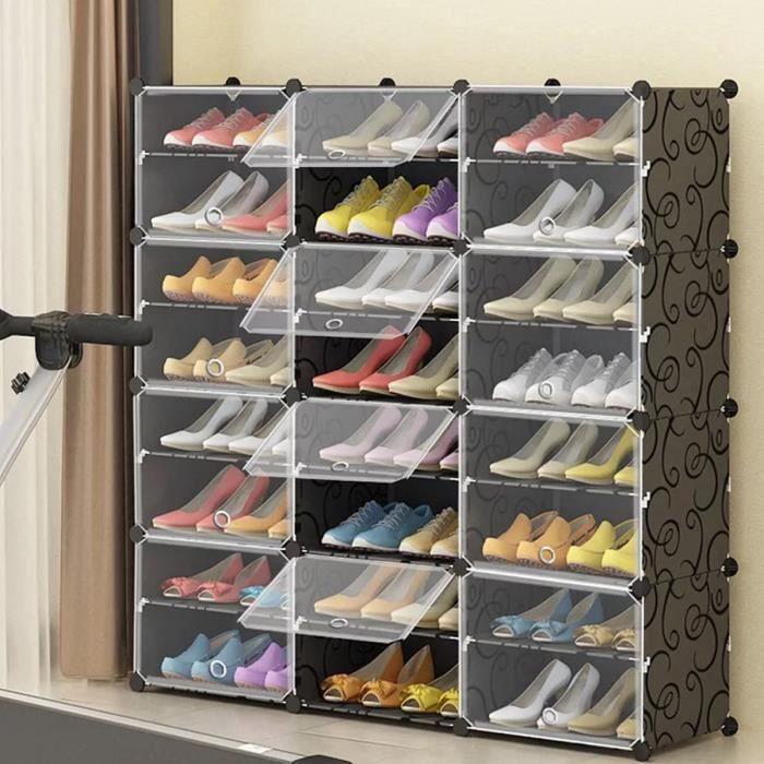 Armoire A Chaussures Meuble A Chaussures Etagere Avec 12 Portes Plastique Facile A Monter Etagere De Rangement Pratique Achat Vente Meuble A Chaussures Armoire A Chaussures Meuble Cdiscount