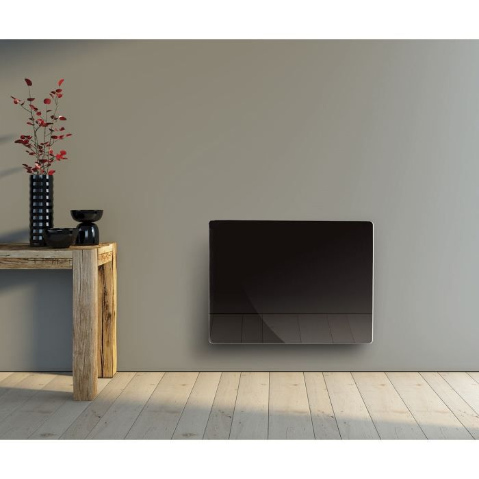 alpina radiateur rayonnant 1500w verre noir lcd achat. Black Bedroom Furniture Sets. Home Design Ideas