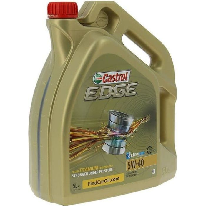 castrol edge titanium 5w40 conditionnement bidon de 5 l achat vente huile moteur castrol. Black Bedroom Furniture Sets. Home Design Ideas