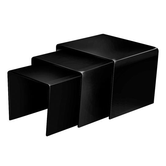 table basse gigogne cube noir 3 tables en ver achat vente table basse table basse gigogne. Black Bedroom Furniture Sets. Home Design Ideas