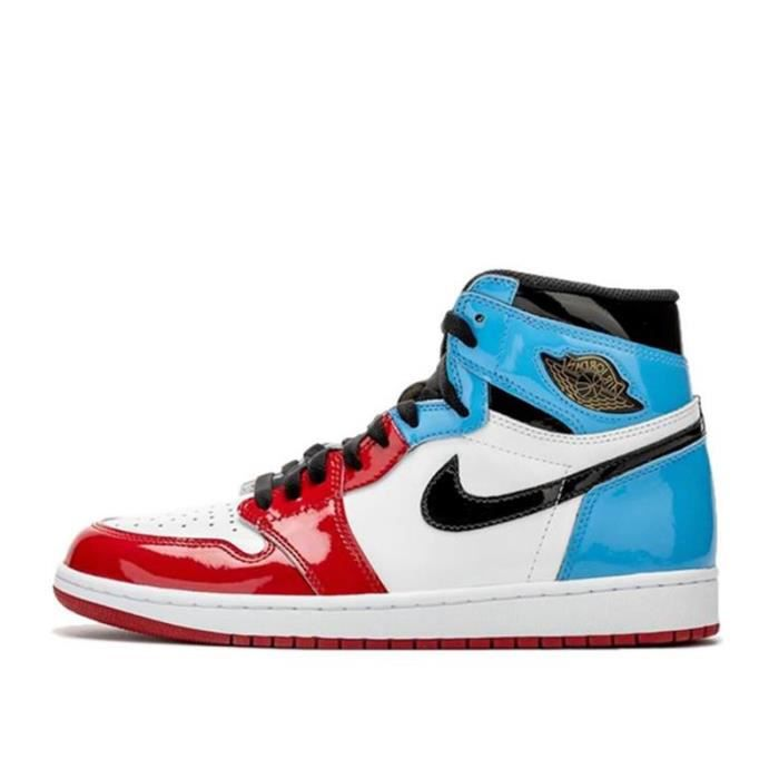 Air Jordan 1 Fearless Bleu blanc rouge Rouge bleu - Cdiscount ...