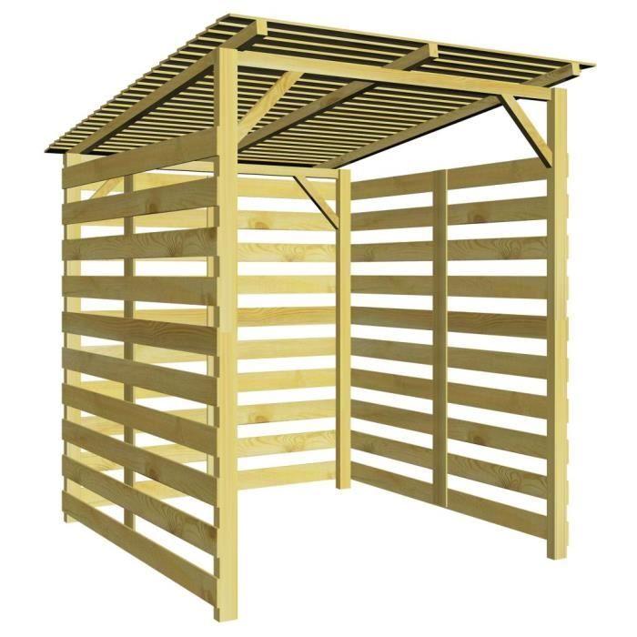 STORE - STORE BANNE  Abri de stockage de bois ABRI BÛCHES du bois de ch