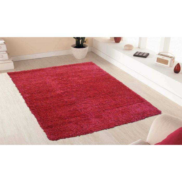 Tapis shaggy rouge for Tres grand tapis pas cher