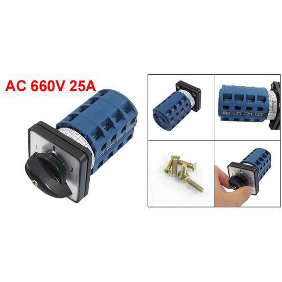 AC 660V 20A 3 positions 6NO/+6NC Commutateur universel rotatif verrouillage