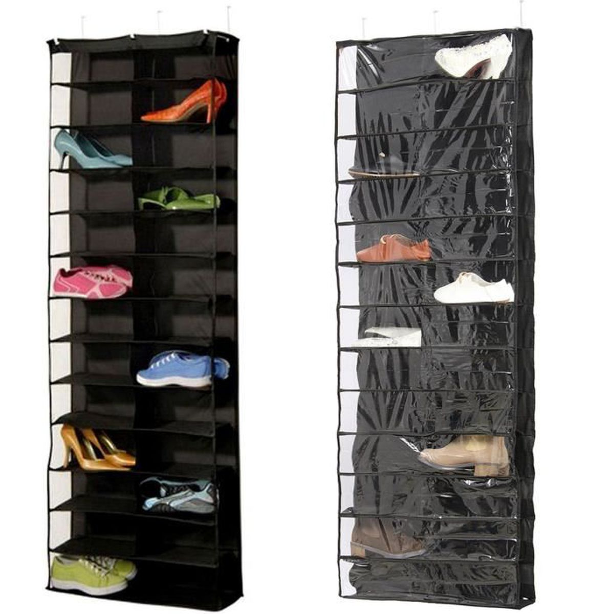 26 paires meuble de rangement armoire chaussures suspendu organisateur hanging achat vente. Black Bedroom Furniture Sets. Home Design Ideas