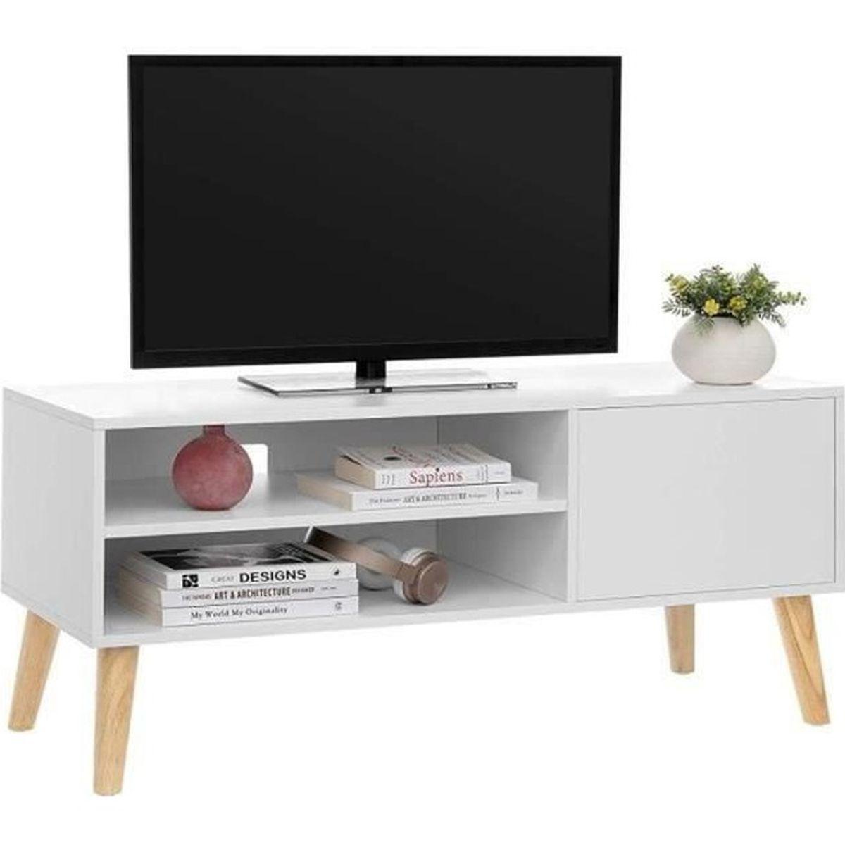 Vasagle Meuble Tv 110 X 40 X 49 5 Cm Style Scandinave Buffet Bas Blanc Ltv09wt Achat Vente Meuble Tv Vasagle Meuble Tv 110 X 40 Cdiscount