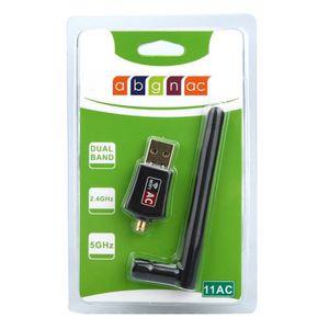 CLE WIFI - 3G 600 Mbps double bande 2,4 - 5 GHz sans fil carte r