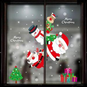 VILLAGE - MANÈGE Joyeux Noël Wall Sticker fenêtre Décoration Decal