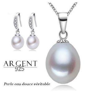 PARURE Parure Bijoux Perle de culture eau douce Blanche A