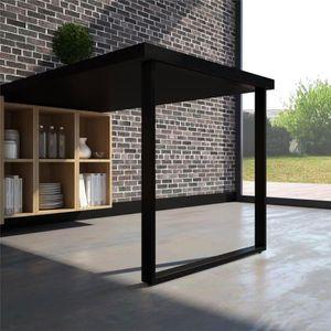 PIED DE TABLE Pied de table rectangulaire TELESCOP Noir H 870 ré