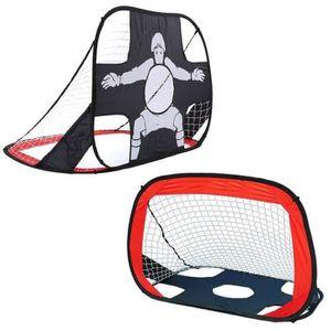 CAGE DE FOOTBALL 2en1 But de Foot Cage de Football Pliable Portable