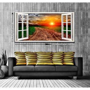 TABLEAU - TOILE Quatre saisons vue depuis une fenêtre panoramique