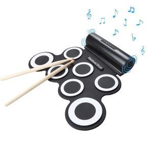 BATTERIE Batterie Tambour électronique Portable Pliable Sil