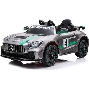 VOITURE ELECTRIQUE ENFANT E-ROAD Mercedes GTR AMG GT4 Gris métalisé - Voitur