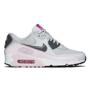 new product 3f563 5f531 ... Femme Blanc Gris Rose. BASKET Baskets Nike Air Max 90 Essential,  Chaussures de R