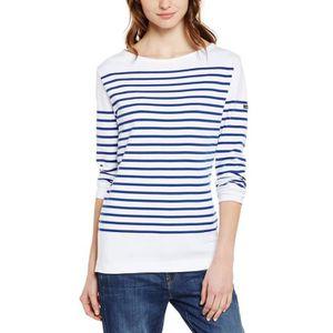 T-SHIRT 07231 - T-shirt - À Rayures - Manches Longues - Fe