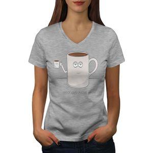 T-SHIRT Coupe De café Women  T-shirt à sonnerie | Wellcoda