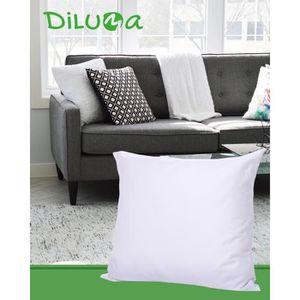 Lot de 2 oreillers en microfibre 80x80 cm – Doux et confortables, adaptés aux personnes souffrant d'allergies - Lavable à 60 ° C