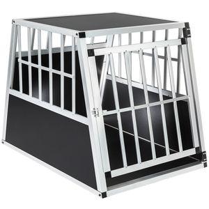 CAISSE DE TRANSPORT TECTAKE Cage de Transport pour Chien en Aluminium