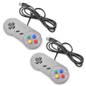 MANETTE JEUX VIDÉO XCSOURCE 2pcs SNES Super Nintendo Manette Joystick