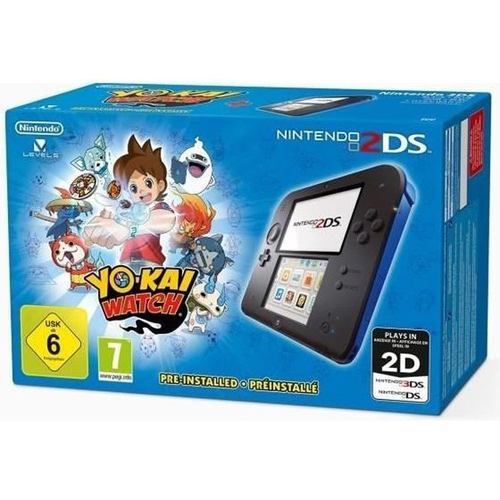 2ds noire et bleue jeu yo kai watch achat vente console 2ds n2ds noir bleu yokai watch. Black Bedroom Furniture Sets. Home Design Ideas
