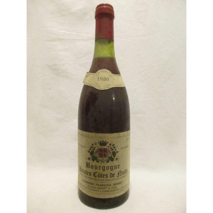 hautes côtes de nuits françois gerbet rouge 1980 - bourgogne france