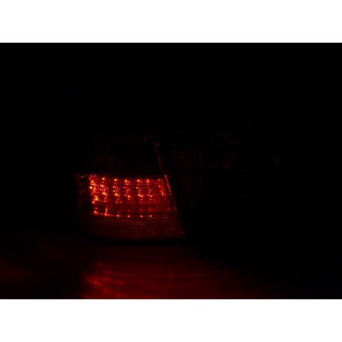 Paire feux arrière Mercedes Classe E W210 Break 99-03 Rouge Chrome Led