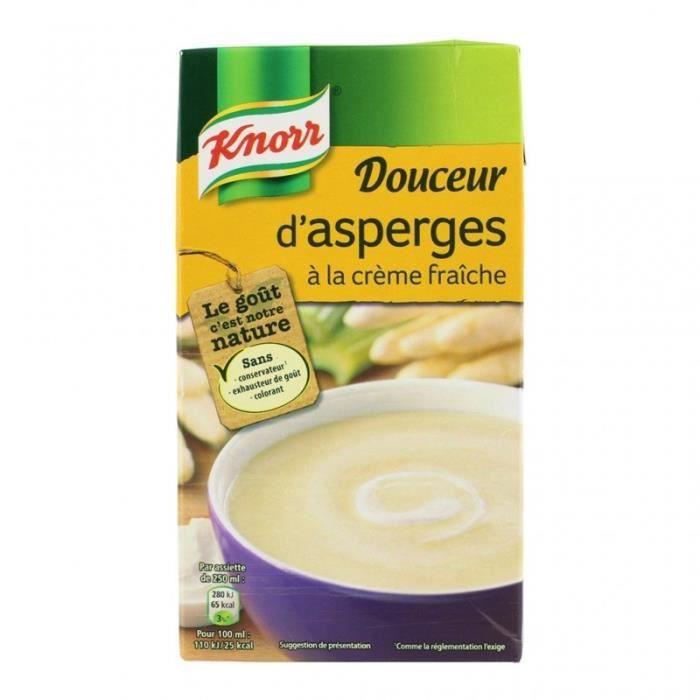 Knorr Douceur d'Asperges à la Crème Fraîche 1L (lot de 4)