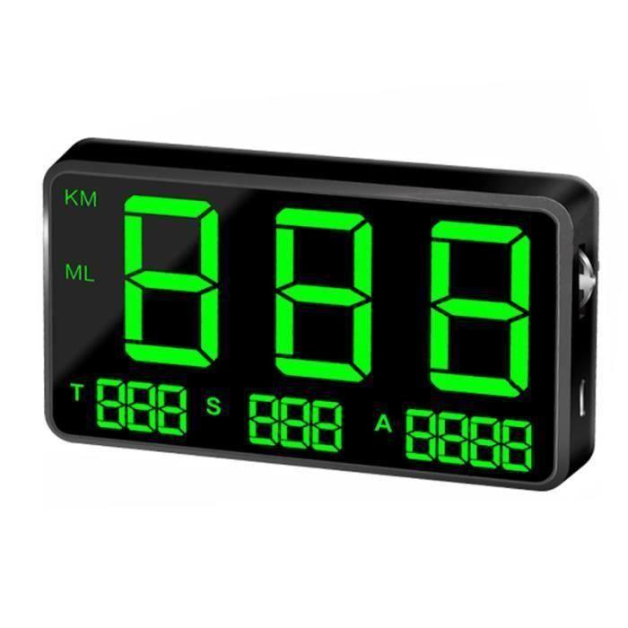 Indicateur de Vitesse Hud Affichage Tête Haute Vitesse de Conduite Digital C80 GPS Universel Véhicule Vitesse de Voiture Avertir