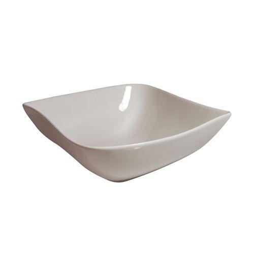 Saladier carré Vague - Porcelaine - Blanc