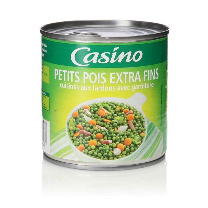 GENERALE DE CONSERVE (COMPAGNIE) Petits pois aux lardons - 400 g