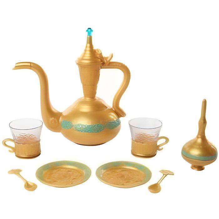 Dinette Service a the Aladdin et Jasmine 9 pieces - Plastique - Jouet Disney Fille - Accessoires cuisine enfant